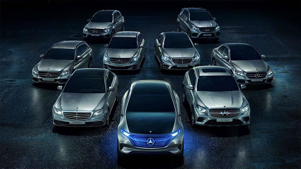 Nästa alla Mercedes-Benz personbilsmodeller